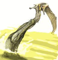 Sarcosuchus by Fafnirx