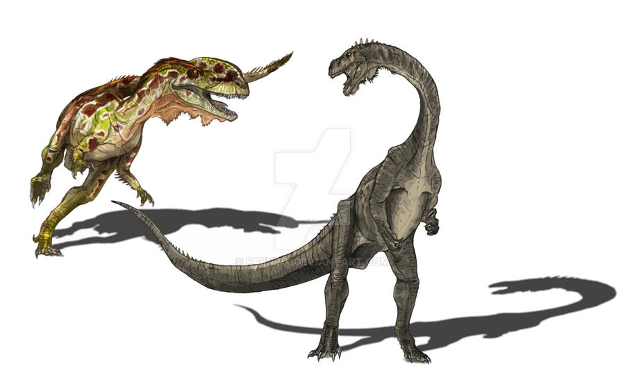 Sinosaurus VS Yunnanosaurus by Fafnirx