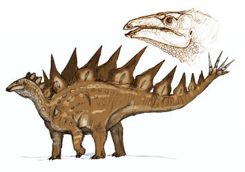 Stegosaurus by Fafnirx