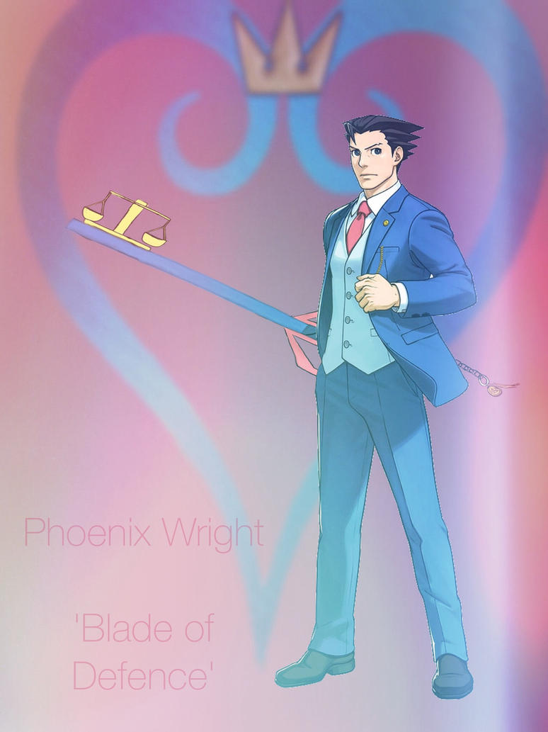 Phoenix Wright and his Keyblade by Tecna-assassin13