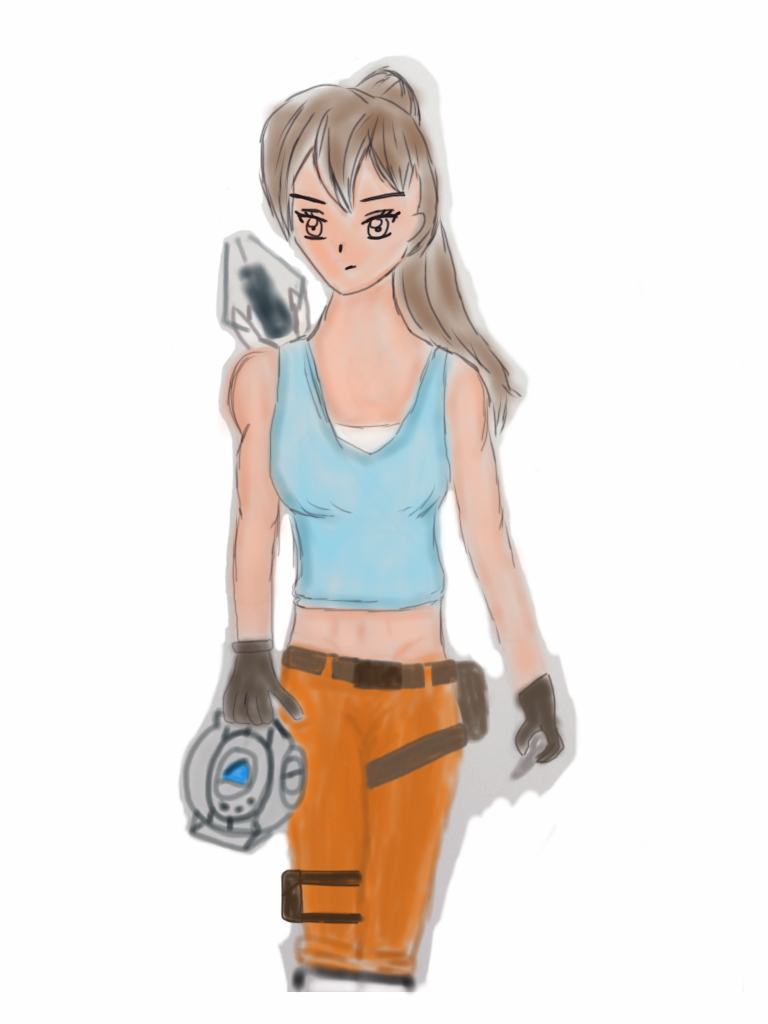 Chell O'Croft ABANDONED DUMP ART by Tecna-assassin13