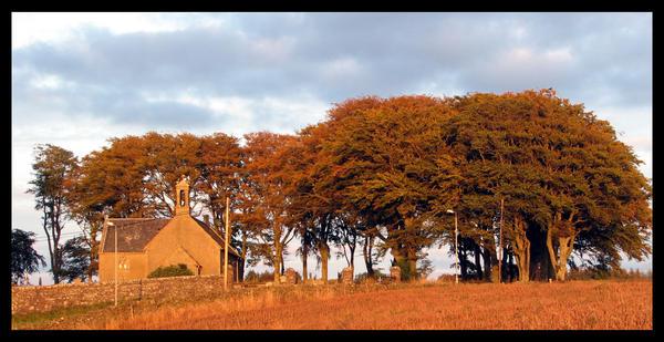 autumn church by kieranan