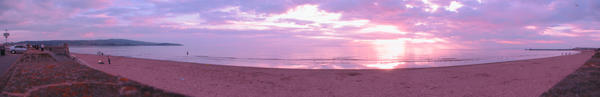 Ayr Sunset Panorama by kieranan
