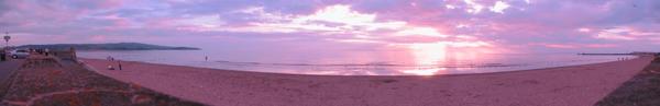 Ayr Sunset Panorama by kieranan