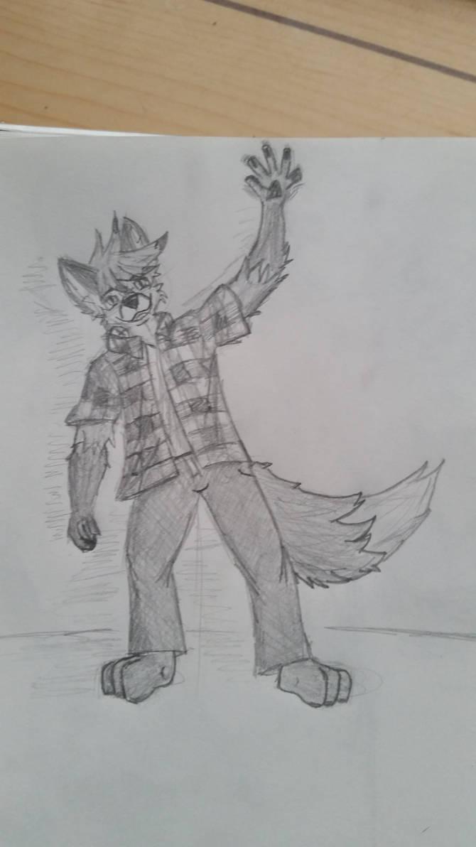 Waving Pencil drawing