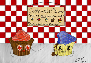 Broken and lonely Cupcake by ShinuSunaipa
