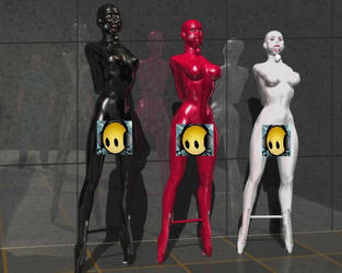 Rubberised female sex pets. by choc666