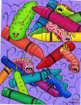 Crayons and Caterpillars by Lady-KL