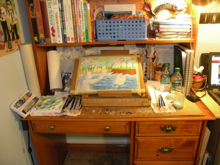 My Art Desk by Lady-KL on DeviantArt