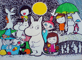 Maikki and the Moomins by Susutastic