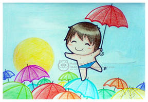 Umbrella Beach. by Susutastic