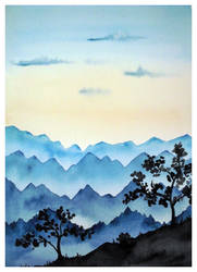 Misty Mountains by Susutastic