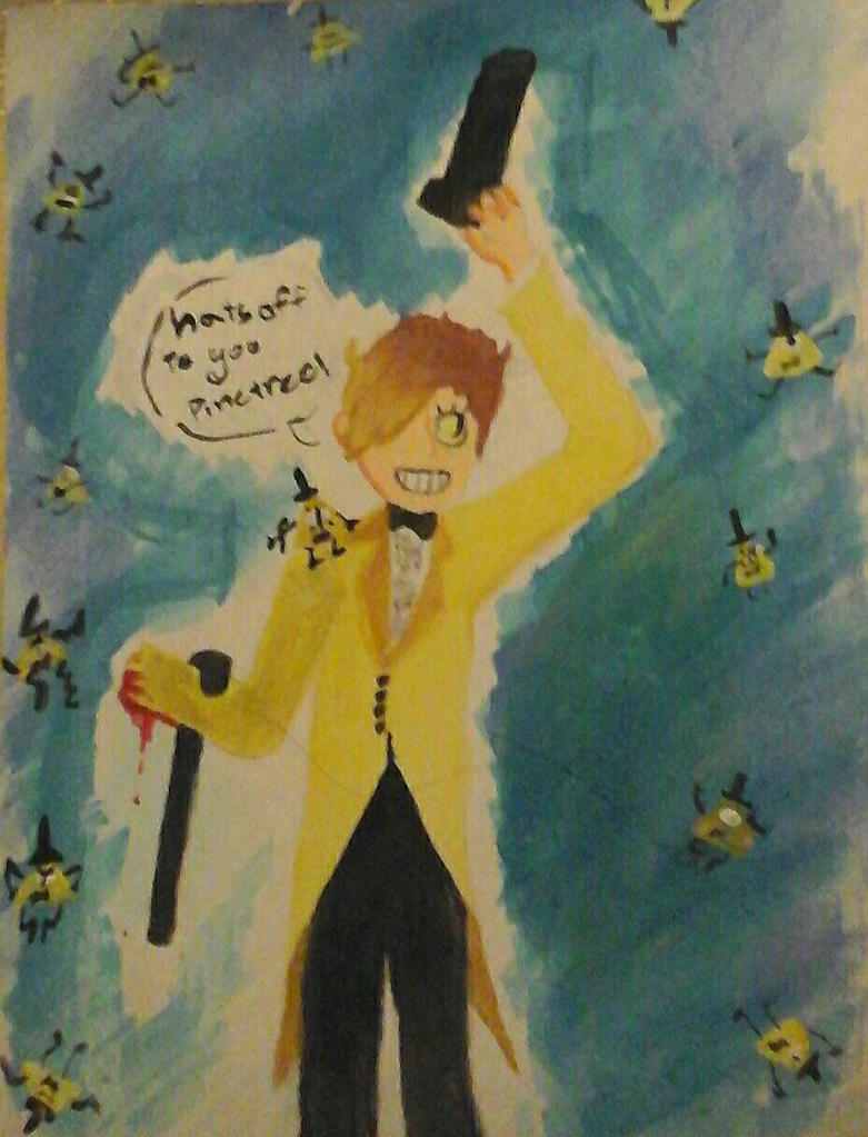 Bill Cipher - Just Got into my new human body! by DelinquentSenpai