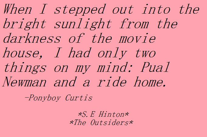 5 paragraph essay on the outsiders by se hinton Se hinton was just seventeen when she wrote the outsiders  the outsiders  remains intensely popular and has sold nearly five million copies across the usa.