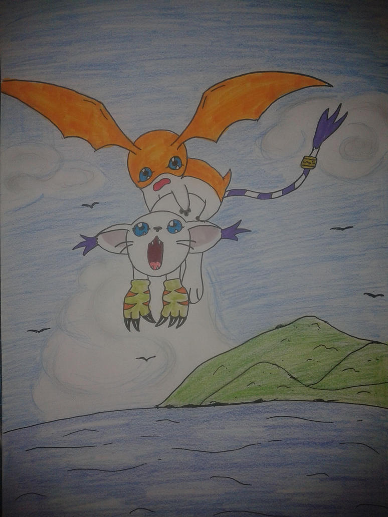Gatomon And Patamon Gatomon and Patamon by...