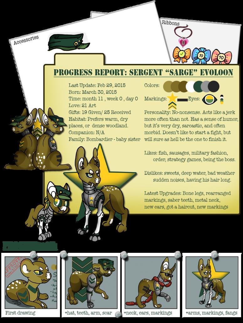 Progress Report: Sergent by DeepDarkHana