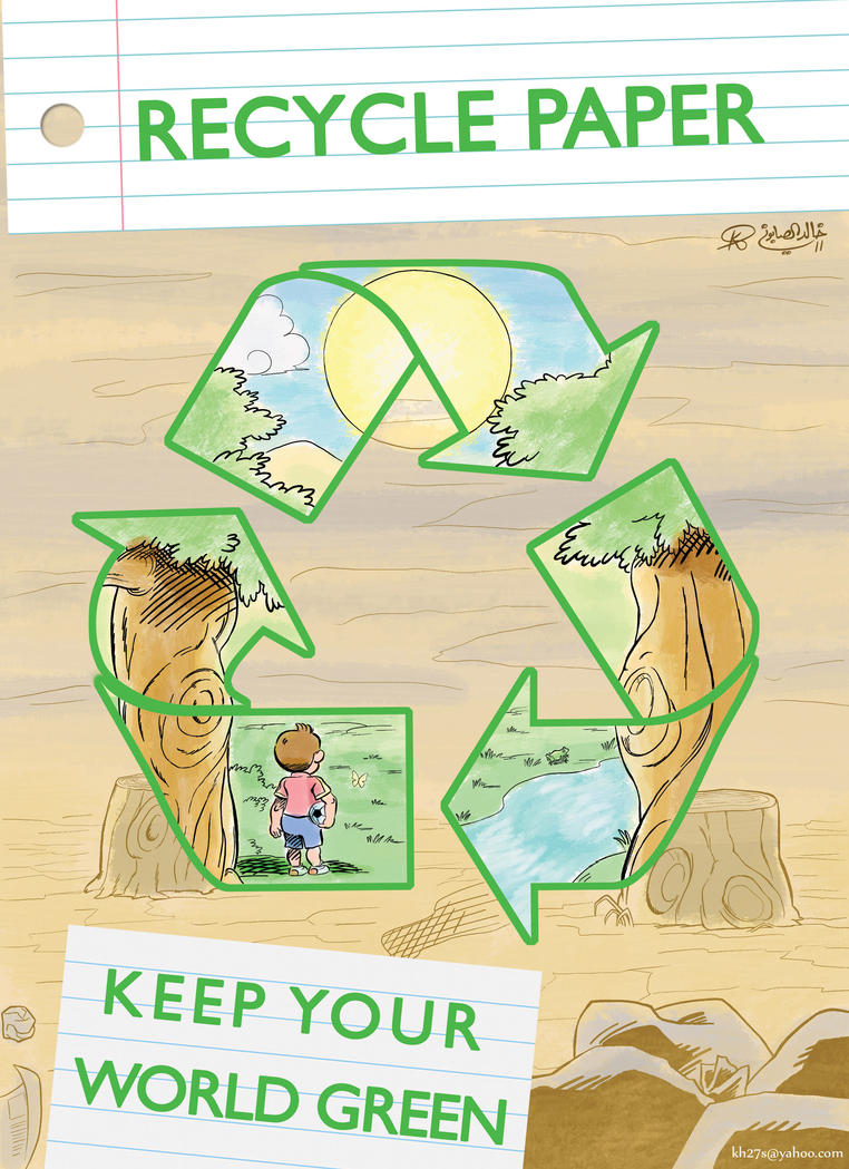 Paper Recycling Poster by kh27s on DeviantArt