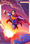 Eighties Superman Flies Again - Color