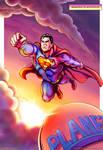 Eighties Superman Flies Again - Color