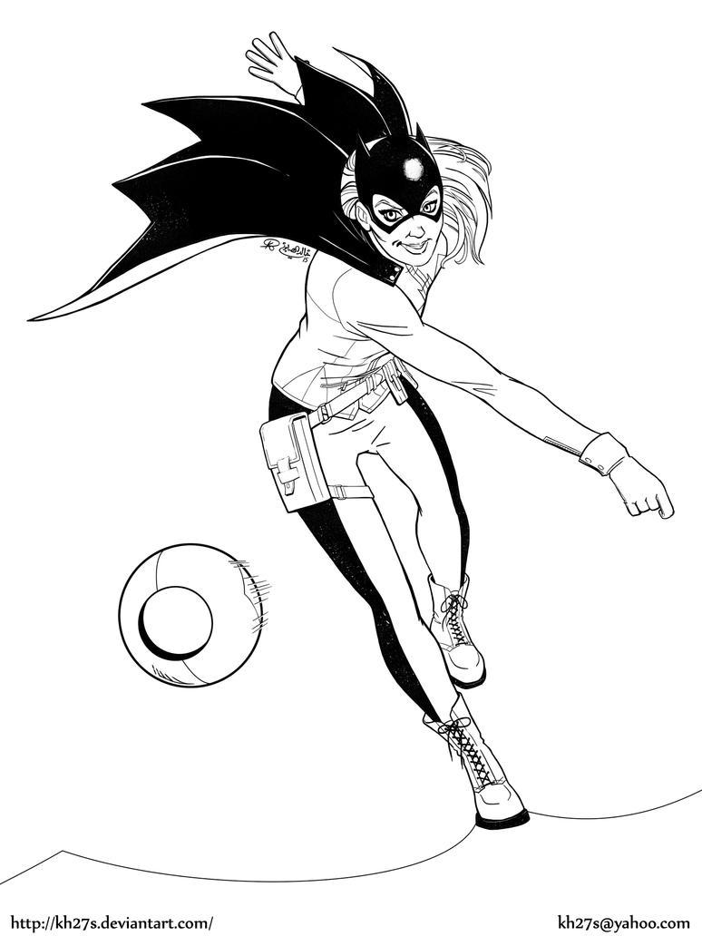 Batgirl - Inks by kh27s