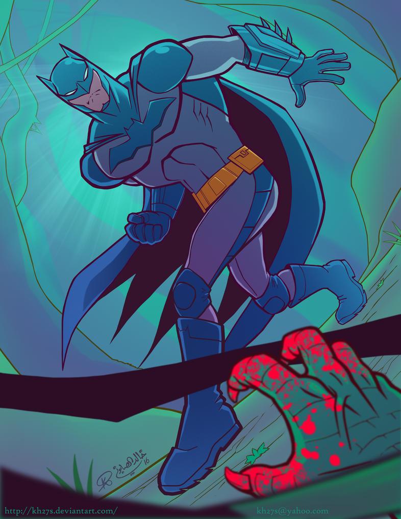 Batman vs Killer Croc by kh27s