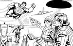 Superman vs Toyman - Inks by kh27s
