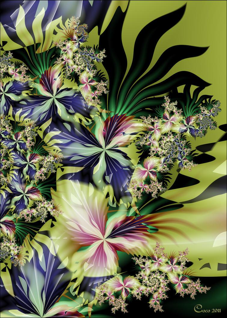 Floral Abstract by kayandjay100