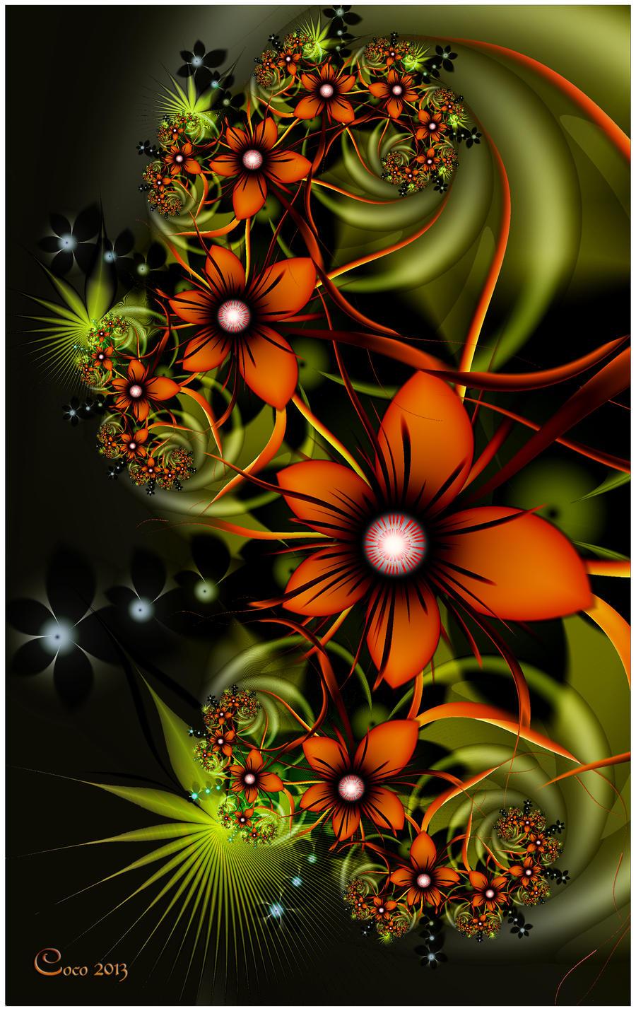 Tropical Blooms by kayandjay100