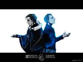 Demerzel and Daneel by gataro