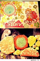 Blilbo rubber stamps art print by gataro