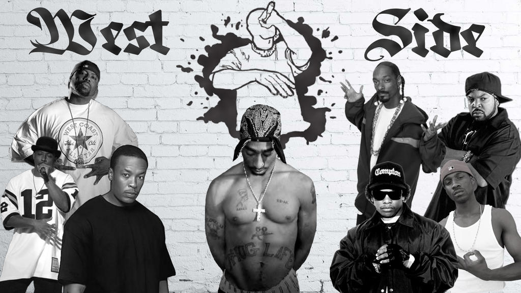 west side rappers wallpaper by mr123spiky on deviantart rh mr123spiky deviantart com 2Pac Wallpaper Thug Life Crip Wallpaper