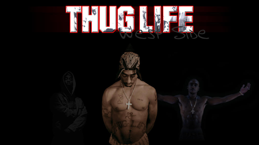 tupac wallpaper thug life by mr123spiky on deviantart
