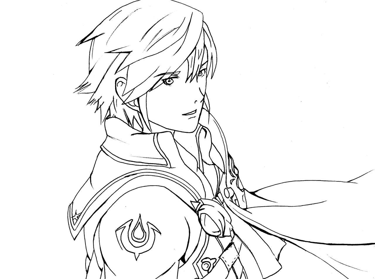 Line Drawing Fire : Fire emblem chrom line art by bloodyrose on deviantart