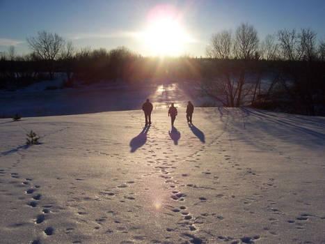 Walking into the sun
