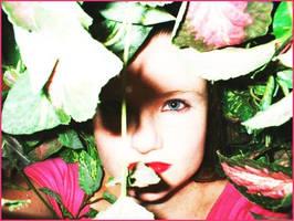 Hidden in the flowers