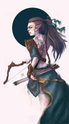 Wood Elf Archer by Lucygart