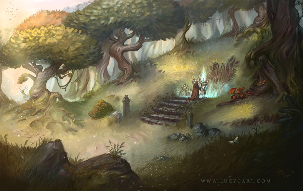 A Peaceful Place Rendered by Lucygart