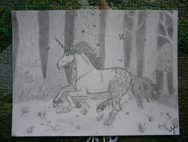 Wood Unicorn by Mercantille