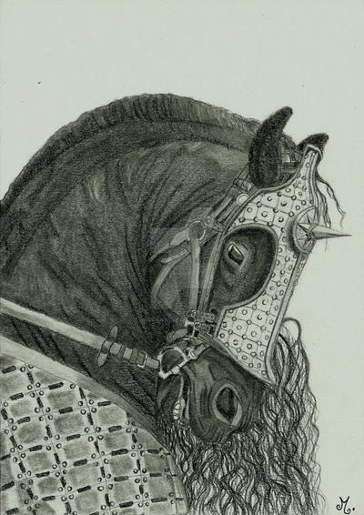 Medieval War Horse by Mercantille
