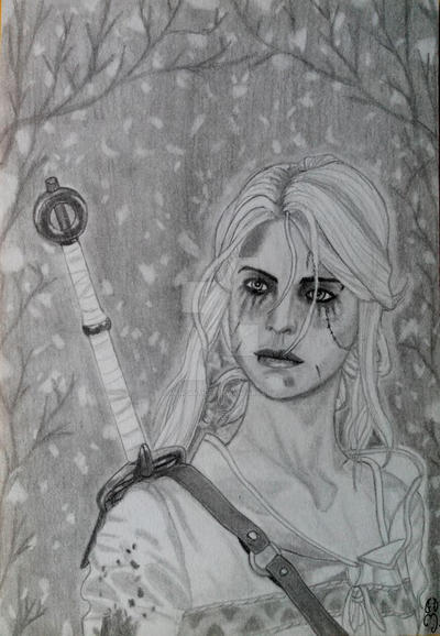 Ciri - The Witcher by Mercantille