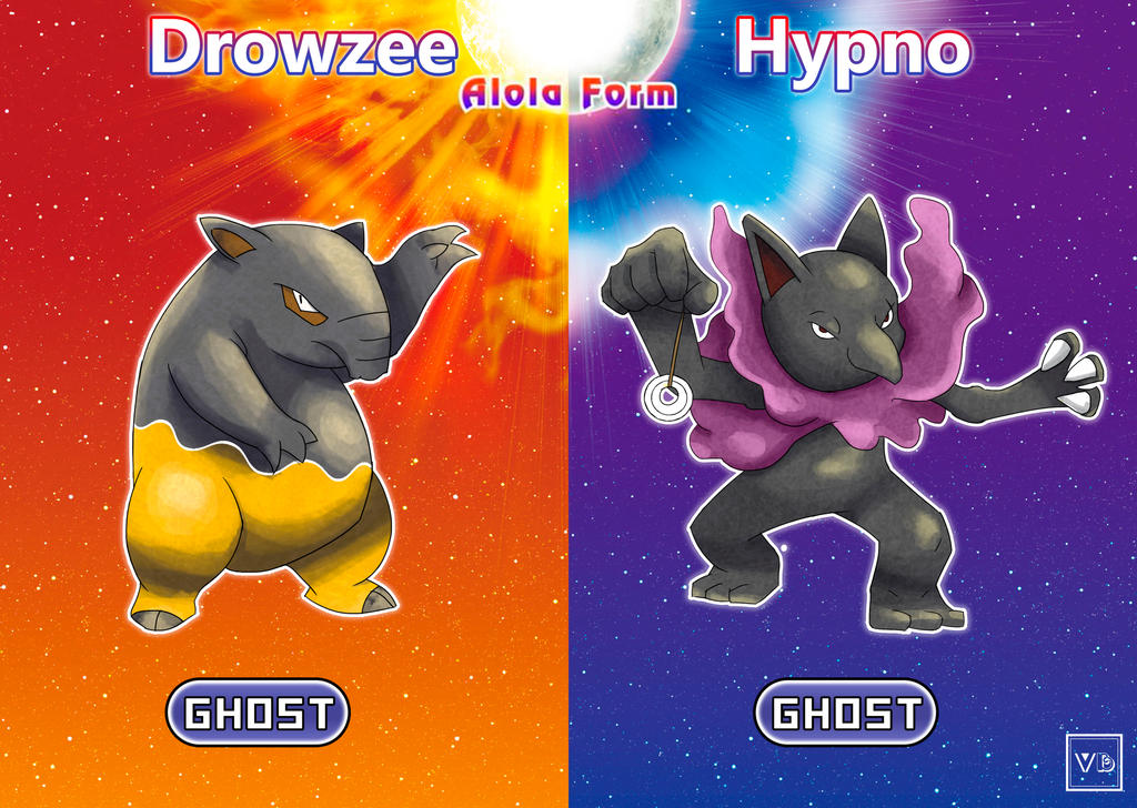 Drowzee And Hypno Alola Forms By Villi C On Deviantart