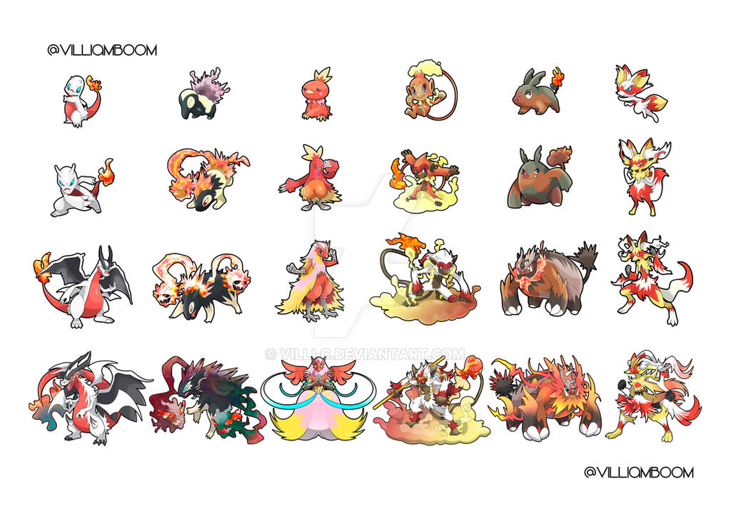 ALL THE FIRE STARTERS WITH ALOLA FORM! FAVOURITE!? by villi-c
