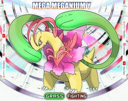 MEGA MEGANIUM Y (SHINY VERSION) by villi-c