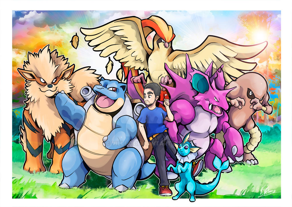 COMMISSION - Kanto Team! by villi-c