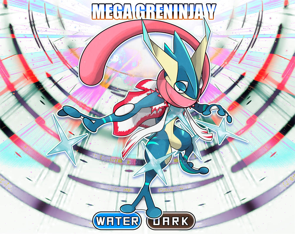 Mega Greninja Y By Villi C On Deviantart