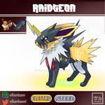 Jolteon Raidramon Pokemon Digimon Fanart Pokefusio