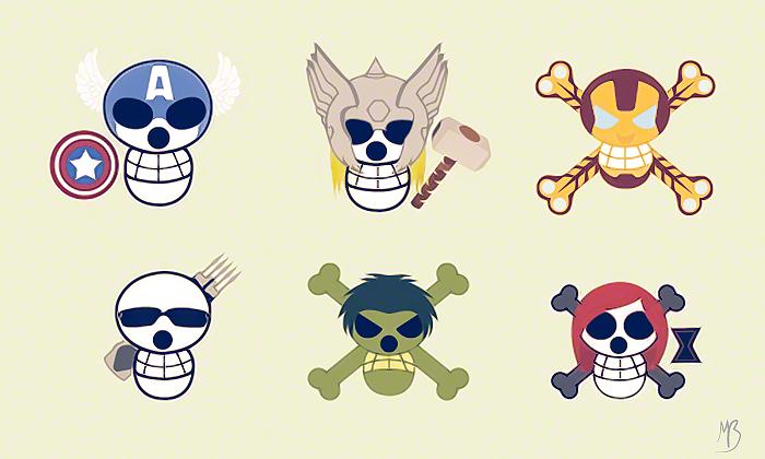 avengers jolly rogers by babydrifter on DeviantArt