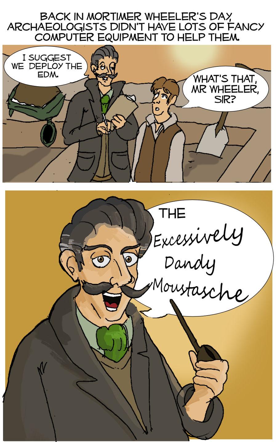 Mortimer Wheeler's Moustasche