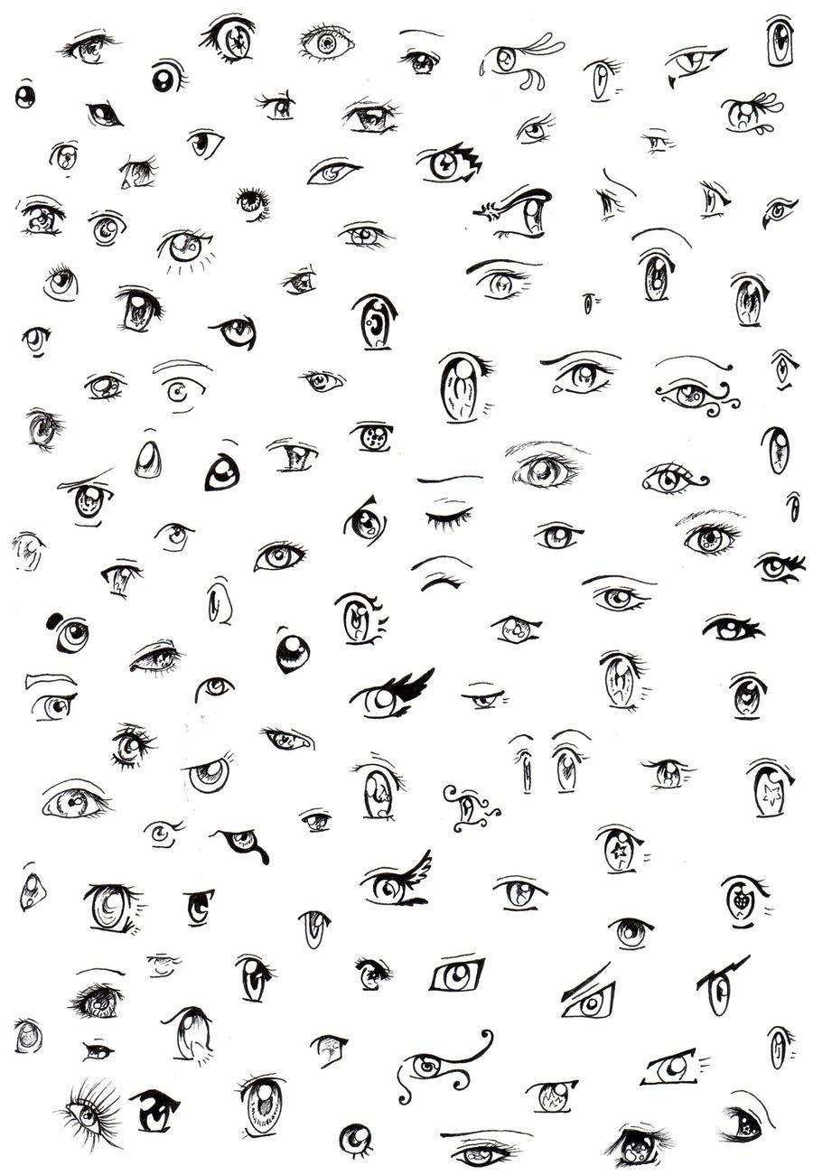 Anime Eyes By MewEllyAzura