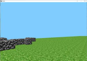 Very first alpha version of Minecraft